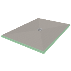 "Presloped 36"" x 48"" Shower Pan"