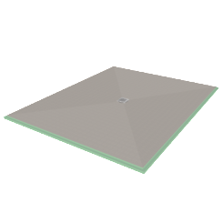 "Presloped 60"" x 72"" Shower Pan"