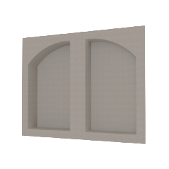 "32"" x 26"" Recessed Double Arch Shower Niche"