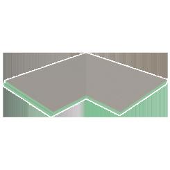 """Presloped 36"""" x 36"""" Shower Pan Corner Extension (""""L"""" Shaped)"""