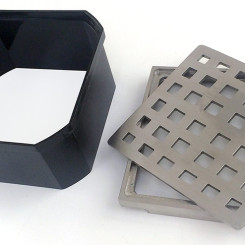 Stainless Drain Cover and Tray with Plastic Riser