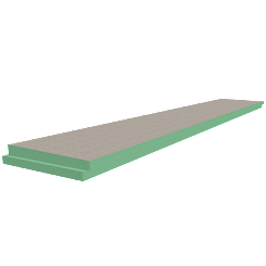 """72"""" x 12"""" Single Slope Shower Pan Extension"""
